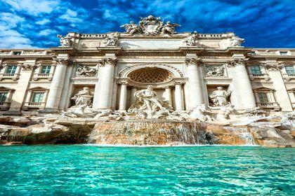 تصاویری زیبا از فواره تروی در رم +تصاویر