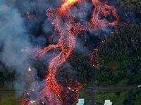تصاویر هوایی از جریان گدازهها در هاوایی