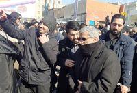 سردار قاآنی در جمع راهپیمایان تهرانی حضور یافت +عکس
