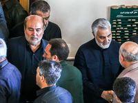 مراسم تشییع و تدفین پیکر پدر سردار سلیمانی +تصاویر