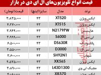 قیمت انواع تلویزیونLED در بازار؟ +جدول