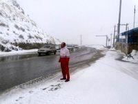 ارتفاع برف در مناطق کوهستانی کرج به 40سانتی متر رسید
