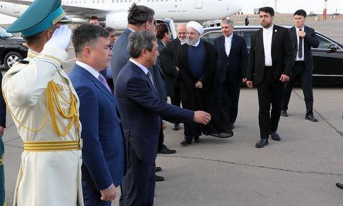 روحانی قزاقستان را به مقصد تهران ترک کرد