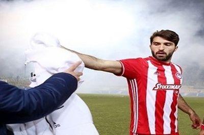 جدال یاران انصاری فرد در مرحله یک چهارم نهایی لیگ یونان