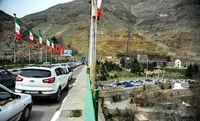 ترافیک سنگین در جاده کرج - چالوس و آزادراه های البرز
