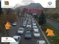 ترافیک سنگین در جاده کرج-چالوس +عکس