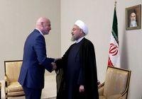 دعوت اینفانتینو از روحانی برای حضور در افتتاحیه جام جهانی فوتبال +عکس