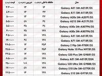 قیمت انواع موبایل سامسونگ در بازار  +جدول