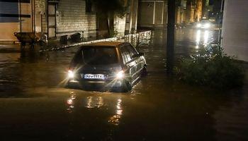 غرق شدن خودروها در اهواز +تصاویر