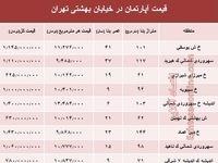 قیمت واحد مسکونی در خیابان بهشتی تهران؟ +جدول