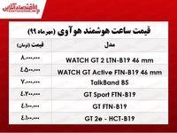 قیمت انواع ساعت هوشمند هوآوی +جدول