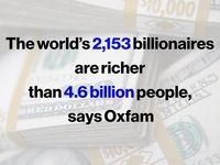 نابرابری اقتصادی در جهان بیداد میکند!/ پولدارهای انگشتشمار جهان درمجموع 2برابر مردم عادی ثروت دارند