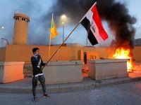 سفارت آمریکا در محاصره طرفداران حشد الشعبی +عکس