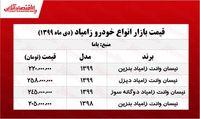 قیمت نیسان آبی در تهران +جدول