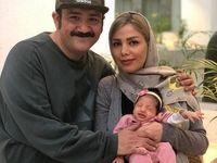 تصویری جدید از همسر و دختر مهران غفوریان +عکس
