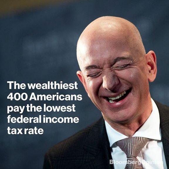 ثروتمندان آمریکا چقدر مالیات میدهند؟/ ثروتمندان کمتر از سایر اقشار مالیات میدهند!