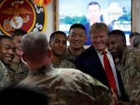 تصاویری جدید از سفر دونالد ترامپ به پایگاه بگرام در افغانستان