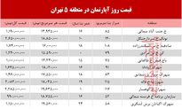 نرخ قطعی آپارتمان در منطقه 5 تهران؟ +جدول