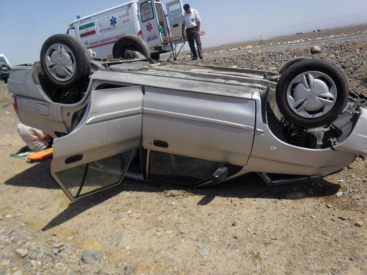 ۲ کشته و ۳ زخمی نتیجه واژگونی پراید در جاده آشتیان