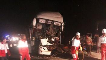 واژگونی اتوبوس زوار عراقی در حوالی دامغان