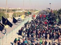 پیاده روی زائران اربعین در مرز مهران +تصاویر