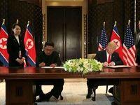 امضای قرارداد تاریخی بین ترامپ و اون +فیلم
