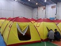 کمپ اسکان اضطراری سیل زدگان هلال احمر در اهواز +عکس