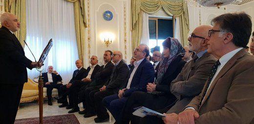 حضور ظریف در جمع ایرانیان مقیم رم +عکس