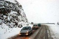 بارش برف در جاده چالوس