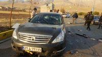 اصابت گلوله به خودروی شهید فخریزاده +فیلم