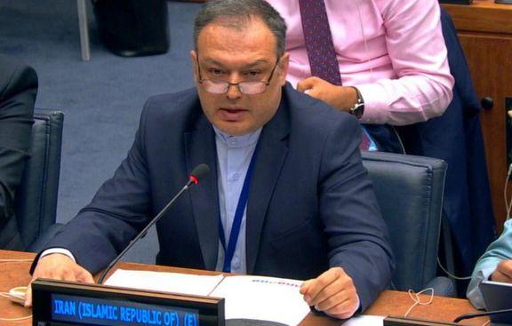 اعتراض رایزن نمایندگی ایران در سازمان ملل به تحریم ظریف