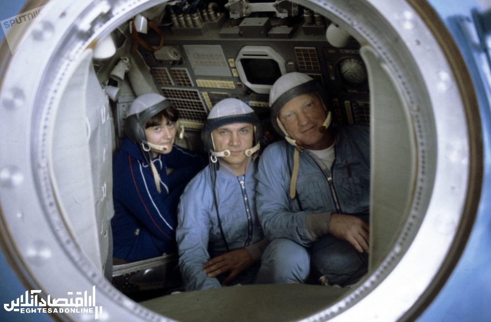 فضانوردان سوتلانا ساویتسکایا، ولادیمیر جانیبکوف، ایگور وولک