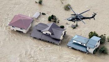 ژاپن زیر آب رفت! +تصاویر
