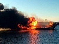 آتشسوزی مرگبار کشتی تفریحی در آمریکا +فیلم