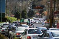 ترافیک سنگین در جاده چالوس و اتوبان کرج - قزوین