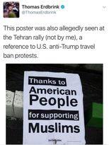 تشکر از مردم آمریکا برای حمایت از مسلمانان +عکس