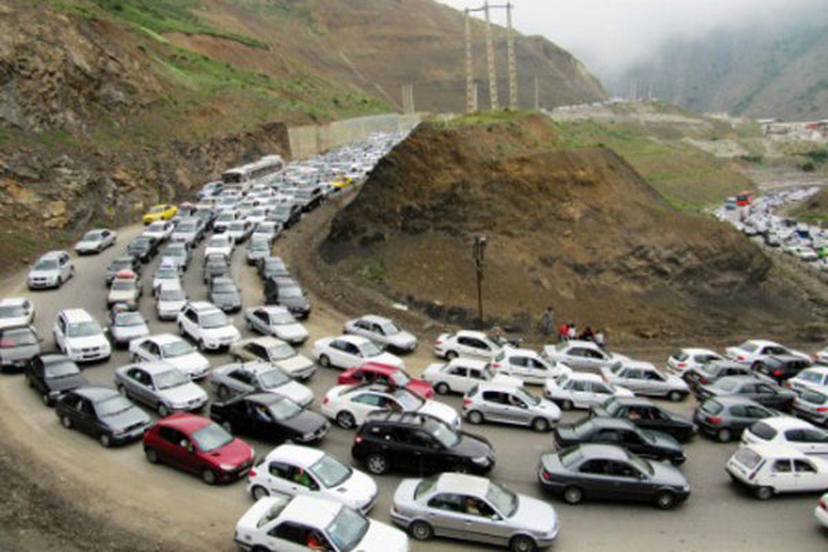 ترافیک سنگین در تمامی جادههای مازندران