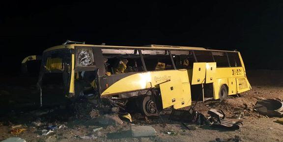 تصادف اتوبوس 1کشته و 20مصدوم برجا گذاشت