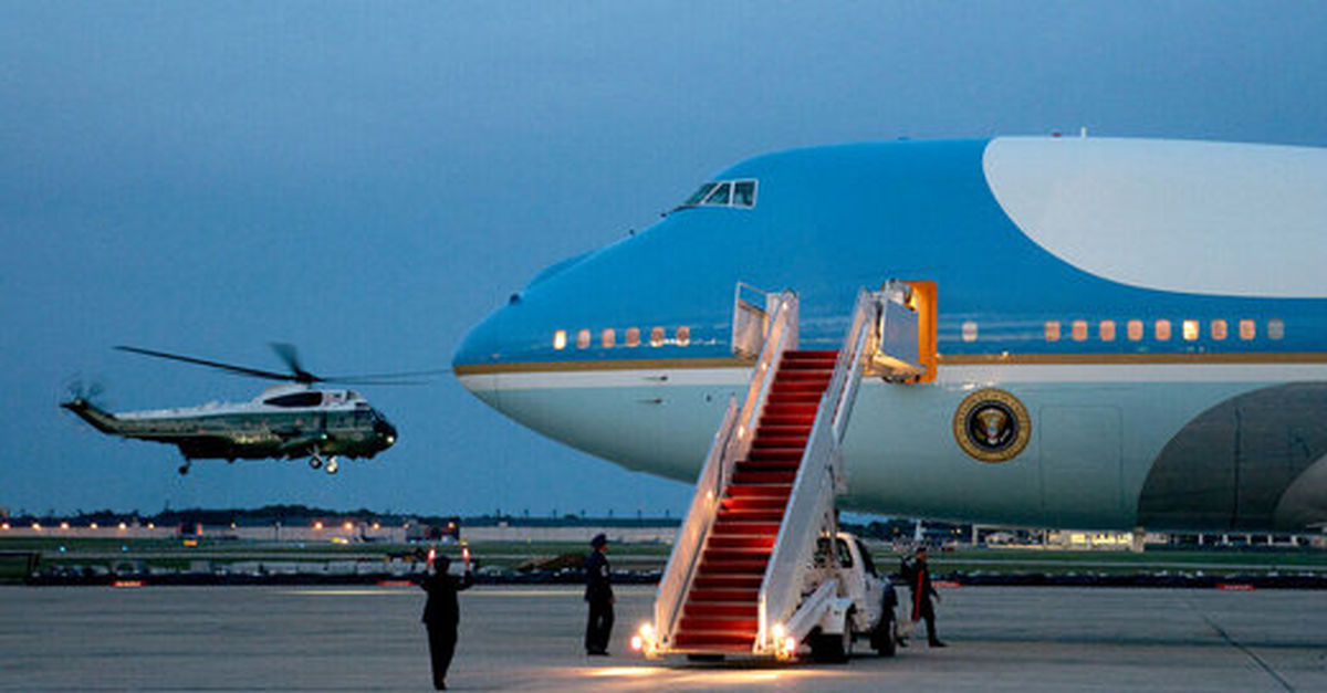 جیرجیرک ها هواپیمای کاخ سفید را زمین گیر کردند + عکس