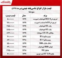 قیمت شاسیبلندهای چینی تهران +جدول