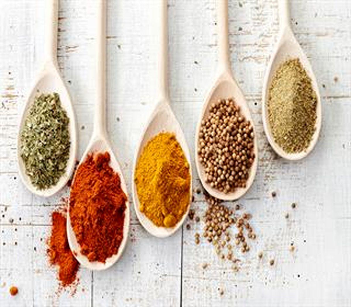 ادویه هایی با بیشترین میزان ویتامین و آنتی اکسیدان