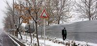 بارش اولین برف پاییزی در مشهد +عکس