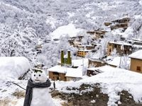 سفیدپوش شدن روستای تاریخی ماسوله +تصاویر