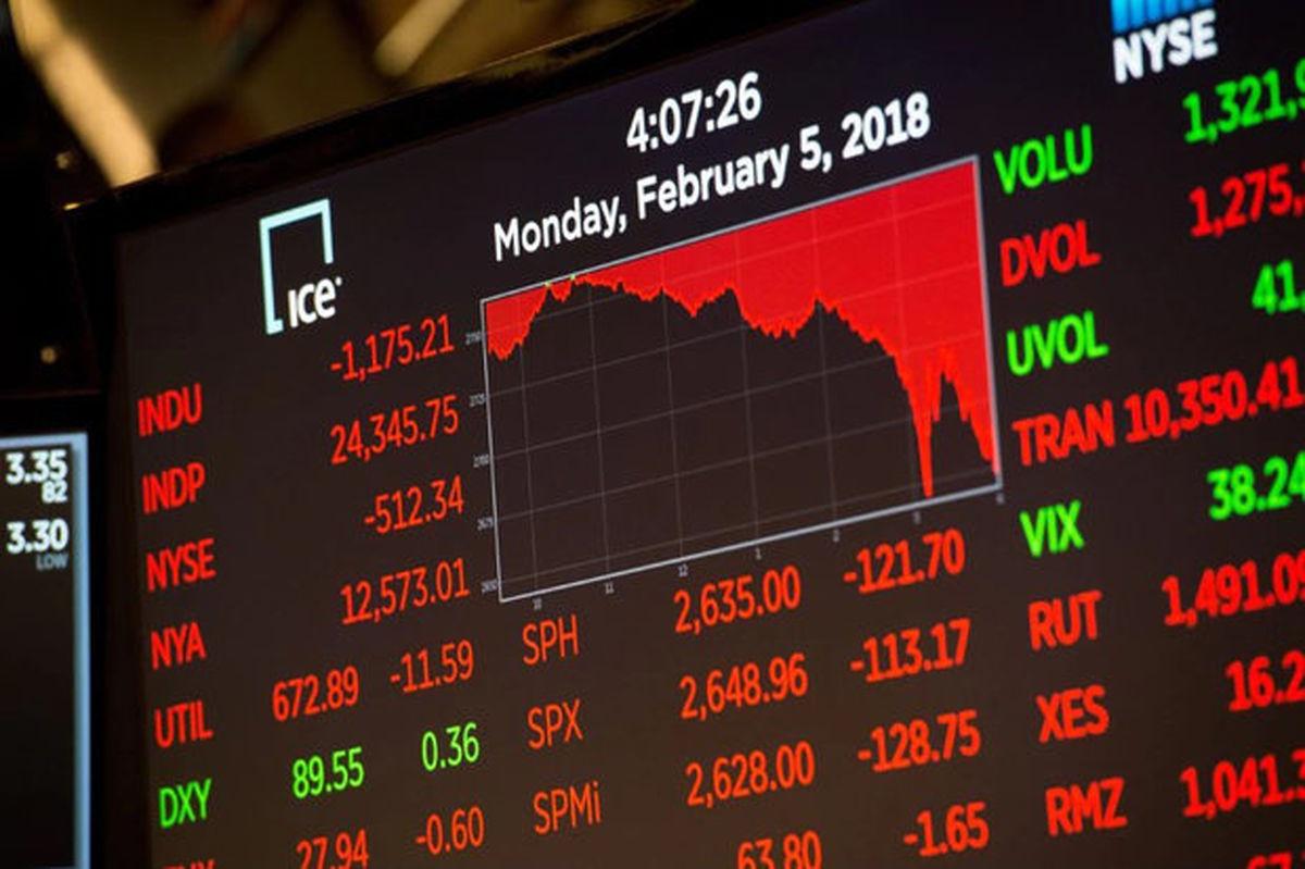 ریزش بورس آمریکا با تیره شدن چشمانداز اقتصادی
