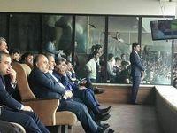 جهانگیری و وزیر ورزش در ورزشگاه آزادی +عکس