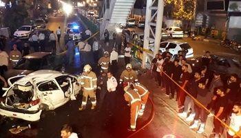 ۲کشته در تصادف ۳خودرو در تهران