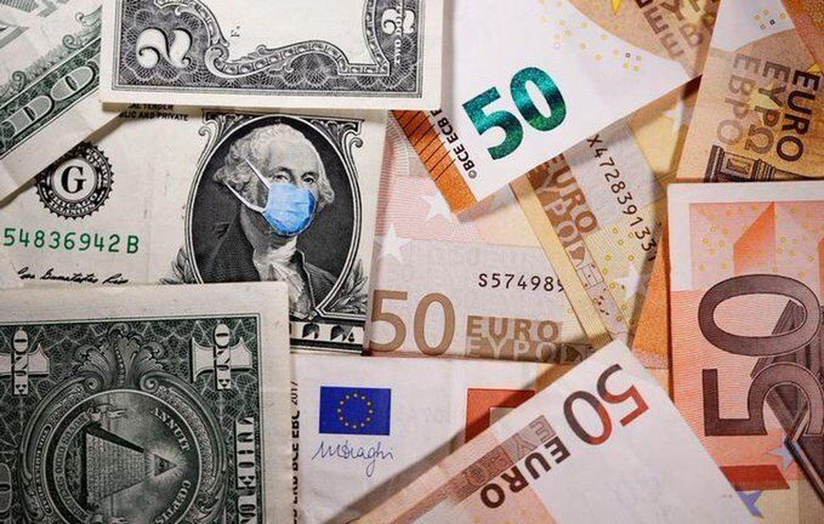 کاهش نرخ رسمی یورو و ۱۶ ارز دیگر