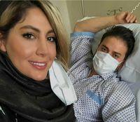 بابک جهانبخش و همسرش در بیمارستان +عکس