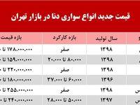 قیمت دنا در بازار تهران +جدول