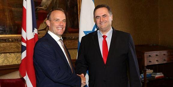 درخواست اسرائیل از انگلیس برای تشدید اقدامات ضدایرانی